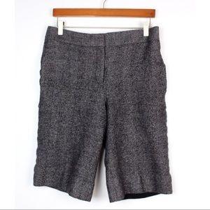 ANN TAYLOR Tweed Bermuda Trouser Shorts Work
